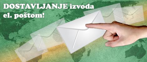 Dostavljanje izvoda e-poštom