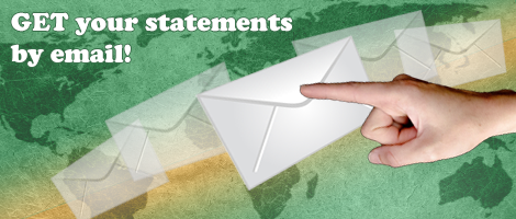 Get your statements by email